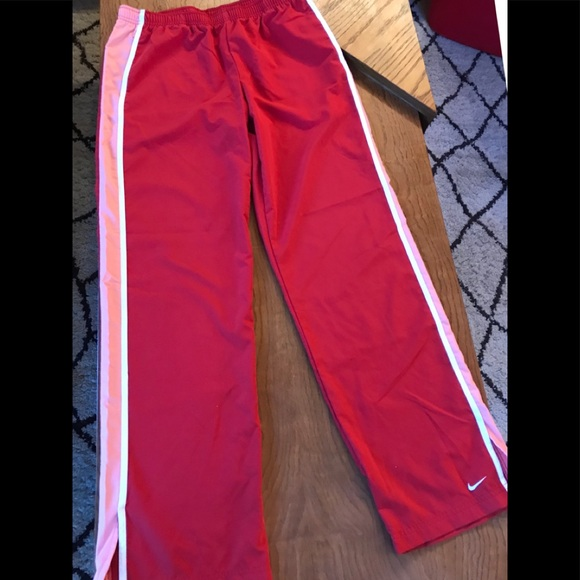 low cost 100% quality wholesale online Red Nike jogging pants